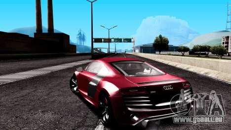 Audi R8 5.2 FSI Quattro 2010 pour GTA San Andreas laissé vue