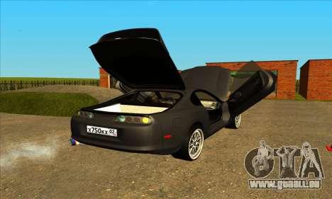 Toyota Supra Lambo für GTA San Andreas zurück linke Ansicht