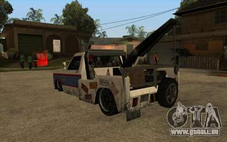 Nouvelle de remorquage pour GTA San Andreas sur la vue arrière gauche