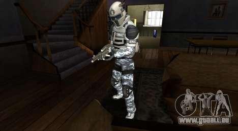Elite GENSEC PAYDAY 2 SWAT Unit pour GTA San Andreas deuxième écran