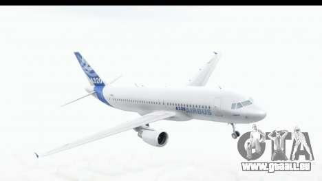Airbus A320-200 Industrie MSN 1 2005 - 2012 für GTA San Andreas zurück linke Ansicht