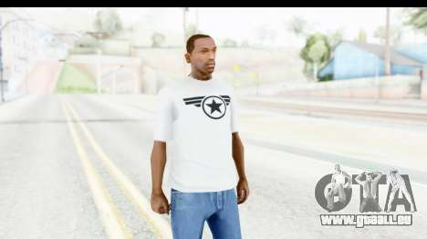 Captain America White T-Shirt für GTA San Andreas zweiten Screenshot