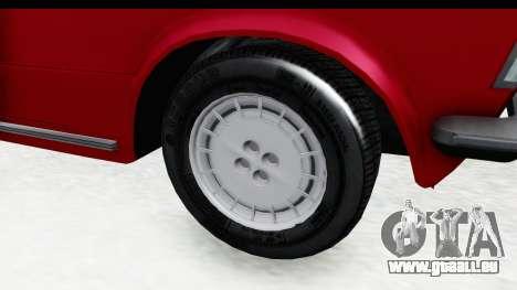 Zastava 125PZ Roadster Coupe pour GTA San Andreas vue arrière