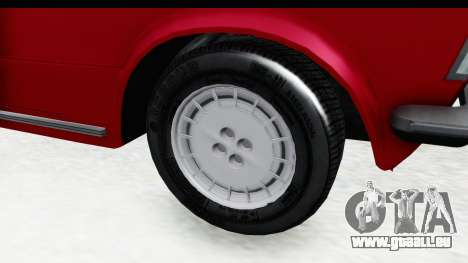 Zastava 125PZ Roadster Coupe für GTA San Andreas Rückansicht