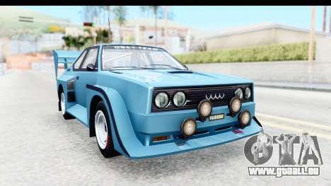 GTA 5 Obey Omnis pour GTA San Andreas sur la vue arrière gauche