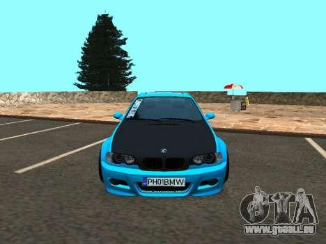 BMW M3 E46 Position pour GTA San Andreas vue arrière