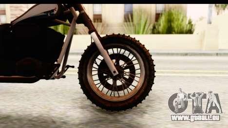 GTA 5 Western Cliffhanger Custom v1 pour GTA San Andreas vue arrière