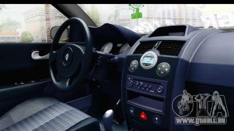Renault Megane pour GTA San Andreas vue intérieure