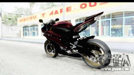 Yamaha YZF-R6 2008 für GTA San Andreas linke Ansicht