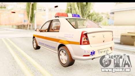 Dacia Logan Facelift Ambulanta v2 pour GTA San Andreas laissé vue
