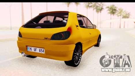 Peugeot 306 GTI pour GTA San Andreas laissé vue