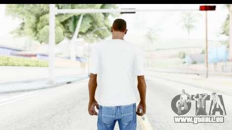 Adidas White T-Shirt pour GTA San Andreas troisième écran