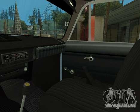 Moskvich 2715 Arménien pour GTA San Andreas vue de dessous