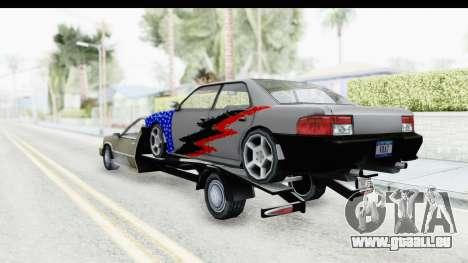 Limousine Auto Transporter für GTA San Andreas zurück linke Ansicht
