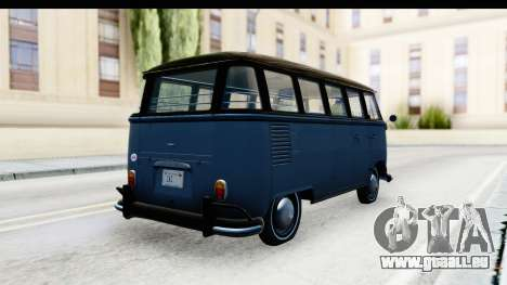 Volkswagen Transporter T1 Deluxe Bus für GTA San Andreas zurück linke Ansicht