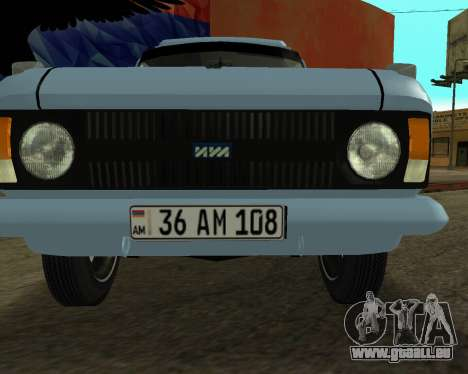 Moskvich 2715 Arménien pour GTA San Andreas vue de droite