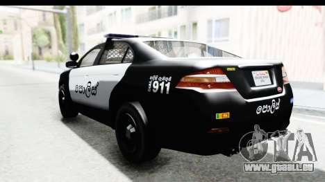 Sri Lanka Police Car v1 für GTA San Andreas linke Ansicht