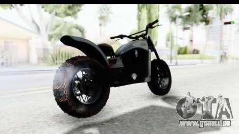 GTA 5 Western Gargoyle Custom v2 IVF für GTA San Andreas zurück linke Ansicht