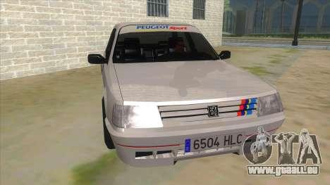 Peugeot 309 Rallye pour GTA San Andreas vue arrière