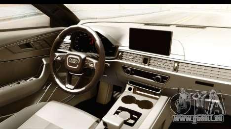 Audi A4 TFSI Quattro 2017 für GTA San Andreas Innenansicht