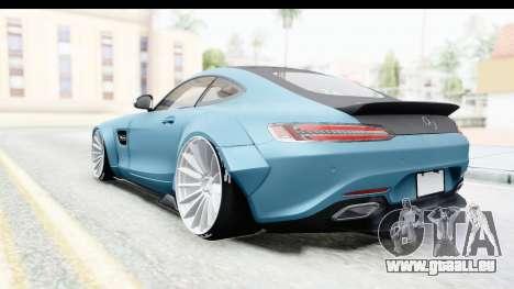 Mercedes-Benz AMG GT Prior Design pour GTA San Andreas sur la vue arrière gauche