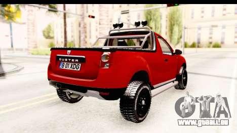 Dacia Duster Pickup für GTA San Andreas zurück linke Ansicht