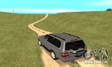 Toyota Land Cruiser 100 pour GTA San Andreas vue de droite