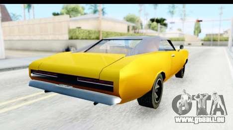 Imponte Dukes 1971 pour GTA San Andreas sur la vue arrière gauche