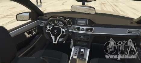 GTA 5 Mercedes-Benz E63 Brabus 850HP arrière vue latérale gauche