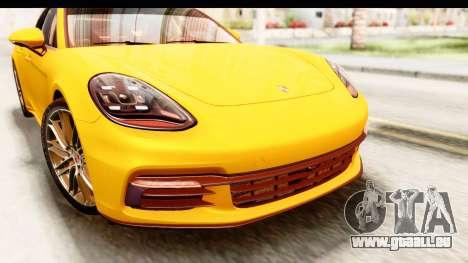 Porsche Panamera 4S 2017 v3 für GTA San Andreas Innenansicht