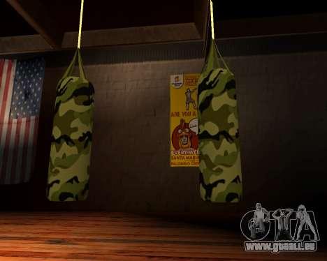 Nouveau militaire sac de boxe pour GTA San Andreas