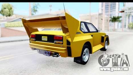 GTA 5 Obey Omnis IVF pour GTA San Andreas vue de droite