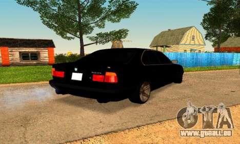 BMW 5-er E34 für GTA San Andreas zurück linke Ansicht