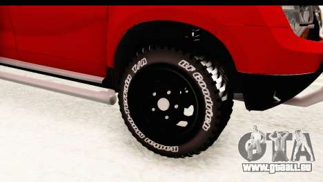 Dacia Duster Pickup für GTA San Andreas Rückansicht