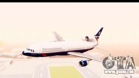 Lockheed L-1011-100 TriStar British Airways für GTA San Andreas zurück linke Ansicht