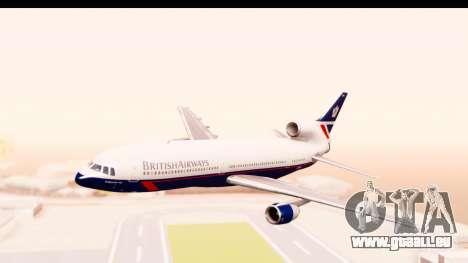 Lockheed L-1011-100 TriStar British Airways für GTA San Andreas zurück linke Ansicht