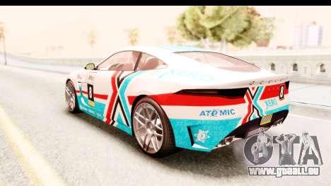 GTA 5 Ocelot Lynx pour GTA San Andreas vue de côté