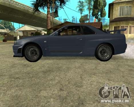 Nissan Skyline Armenia pour GTA San Andreas vue de droite