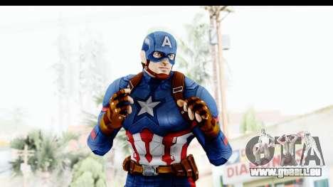 Marvel Heroes - Capitan America CW pour GTA San Andreas quatrième écran