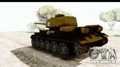 T-34-85 Rudy 102 pour GTA San Andreas laissé vue