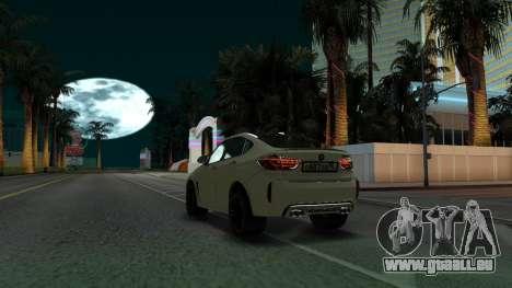 BMW X6M Bulkin Edition pour GTA San Andreas vue arrière