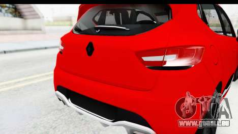 Renault Clio Four Air für GTA San Andreas Rückansicht