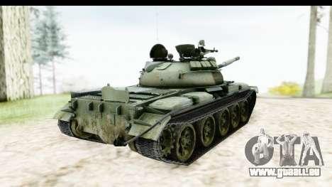 T-62 Wood Camo v2 pour GTA San Andreas sur la vue arrière gauche