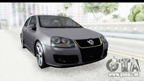 Volkswagen Golf 5 Stock pour GTA San Andreas vue de droite