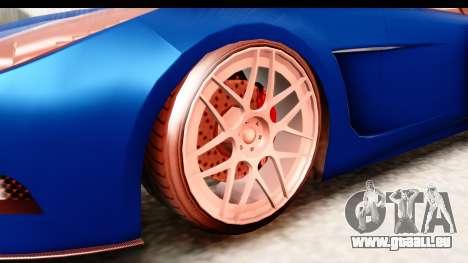 GTA 5 Ocelot Lynx pour GTA San Andreas vue arrière