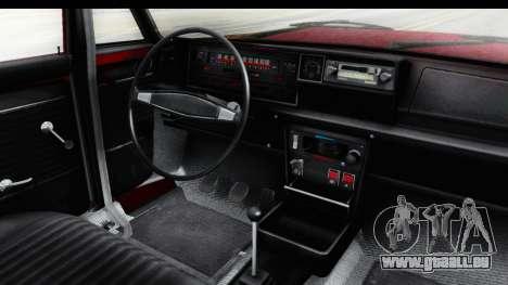 Zastava 125PZ Roadster Coupe pour GTA San Andreas vue intérieure