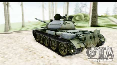 T-62 Wood Camo v2 pour GTA San Andreas laissé vue