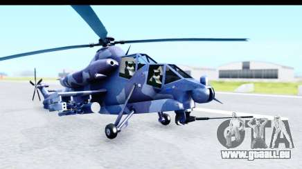 Denel AH-2 Rooivalk Blue für GTA San Andreas