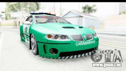 Pontiac GTO 2006 Carabineros De Chile pour GTA San Andreas