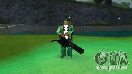 M134 MINIGUN BLACK pour GTA San Andreas